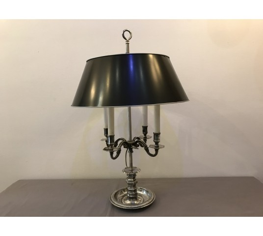 Large silvery bronze kettle lamp