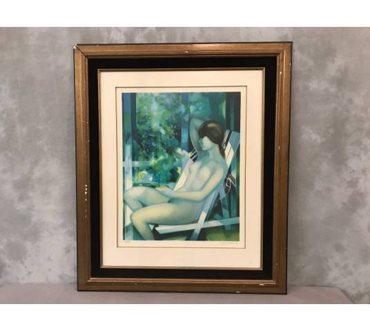 Lithograph Original by Camille Hilaire