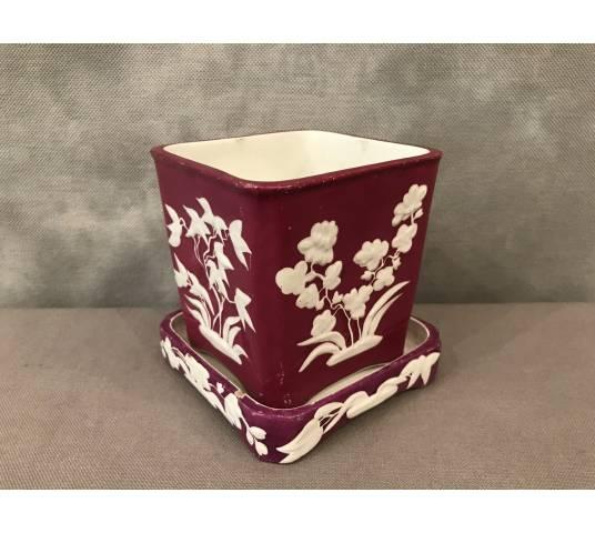 Minton porcelain pot at the end of 19 th
