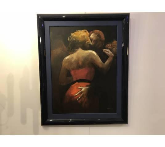 Peinture de C.Hocquet arstiste Belge « les «danseurs»