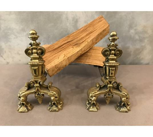 Pair of ancient track in polished bronze circa 1900