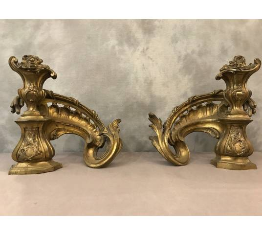 Pair of ancient bronze caterpillars 19 th
