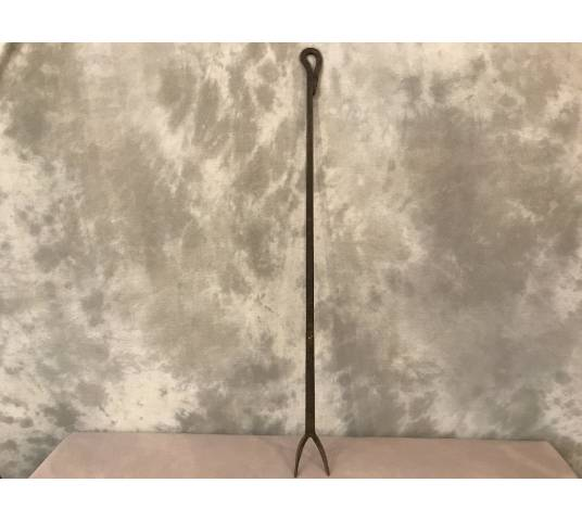Large fork peak fire of period wrought iron fireplace 18 th