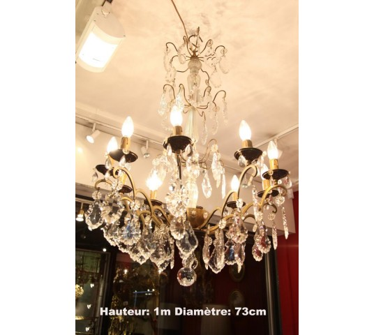 Lustre with period crystals 20 to 10 lights