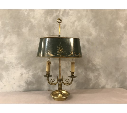 Bronze and brass kettle lamp 20 th